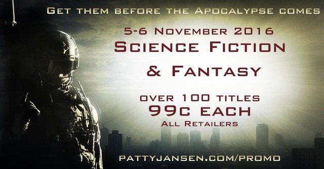 Science Fiction and Fantasy 99 cent eBook Sale - November 5-6, 2016
